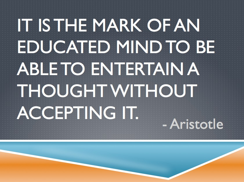 Aristotle Quote | It is the Mark